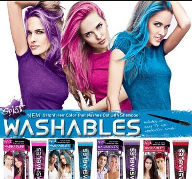 Washable hair dye is temporary and can be removed easily