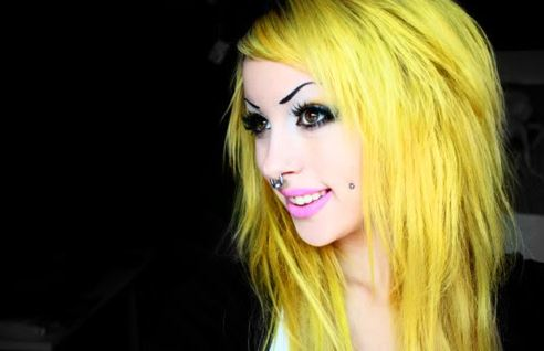 Photo of Yellow Hair Dye and Color Shades Neon, Bright and Blonde