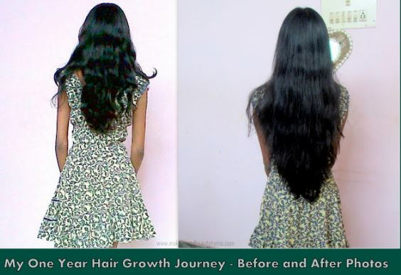 Before and after pictures for long hair