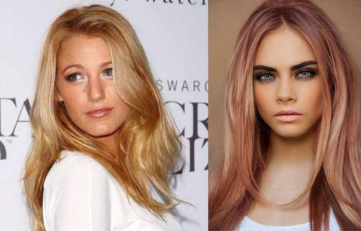 Celebrities with rose gold hair color