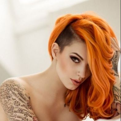 Orange Hair Dye Bright Light Dark On Dark Hair Red
