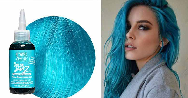 Best Turquoise Hair Color Dye Permanent Blue Dark How To Dye