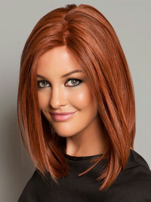 Soft cinnamon red hair color for warm skin tones