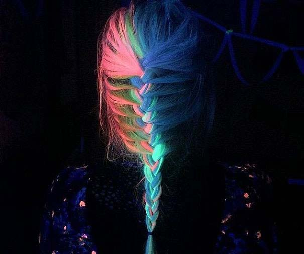 Glow in the dark hair dye picture
