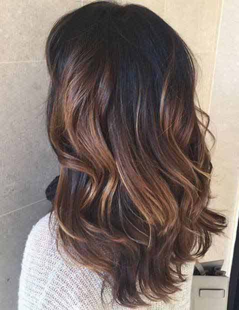 Black base color with caramel low lights