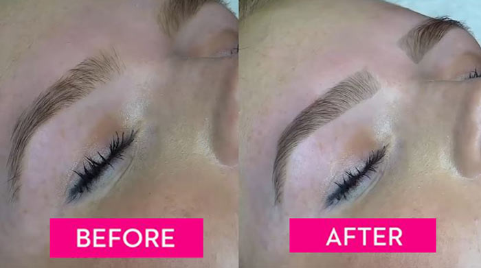 Eyebrow tinting or dying before and after results