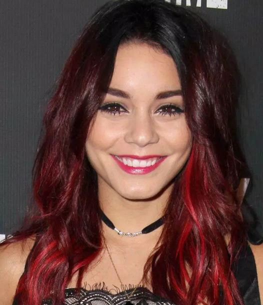 Hair color ideas for brunettes funky with highlights for blue cherry red highlights ideas for brunette hair pmusecretfo Gallery