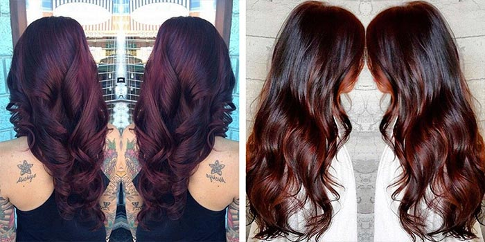 Chocolate Cherry Hair Color Pictures Formula With Red