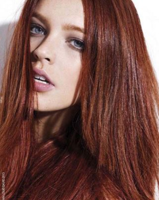 Mahogany brown hair for brunettes