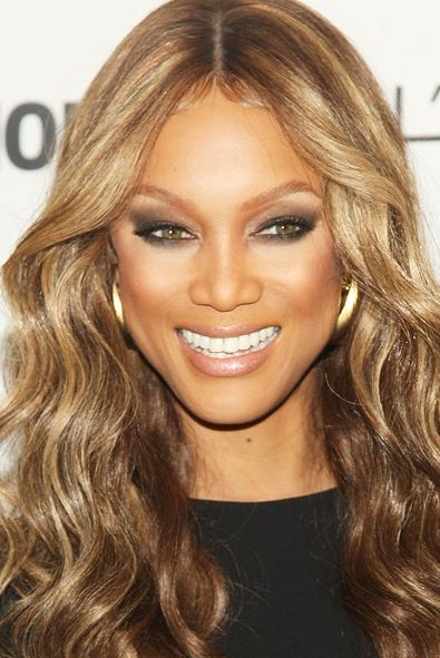 Tyra banks blonde hair dark skin