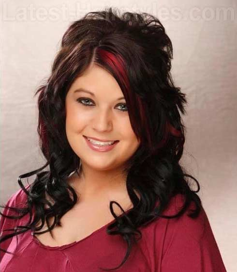 Twp tone -dark brown base red magenta highlights